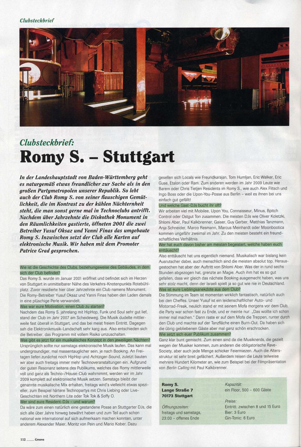 Romy @ Groove Magazine