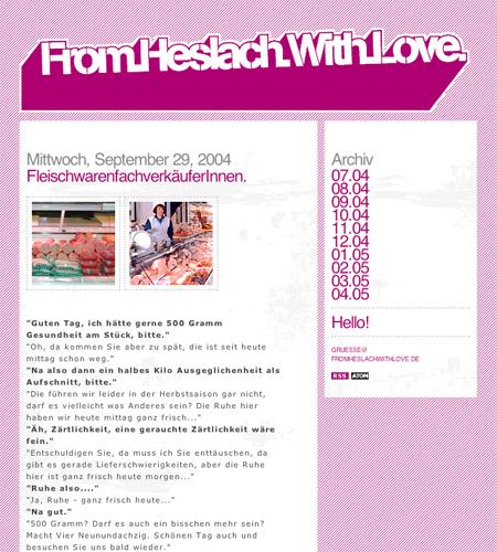 Stuttgarter Blog-Pionier: <br>From Heslach With Love
