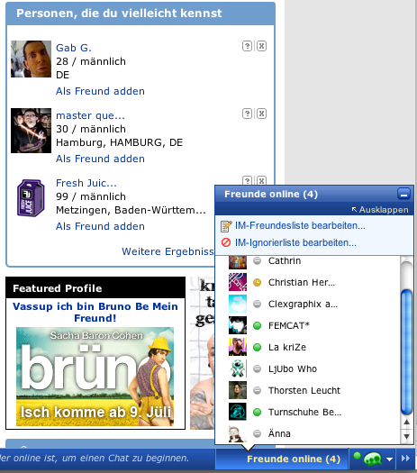 Chat mit Brüno