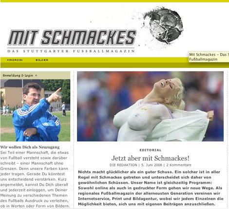Mit Schmackes <br> Das Stuttgarter Fußballmagazin