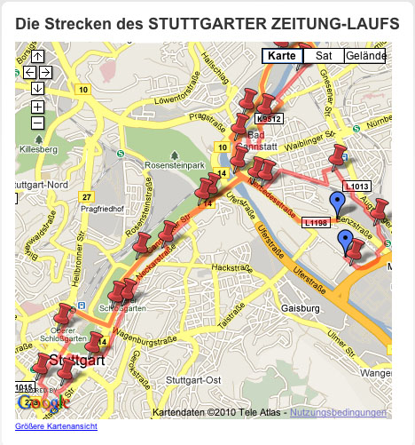 Angriff: 17. Stuttgarter Zeitung Lauf