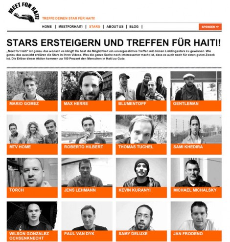 Aktion Meet for Haiti startet