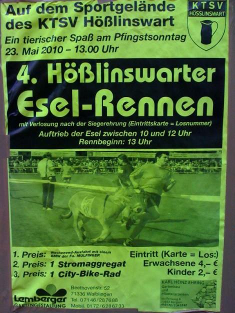 Esel-Rennen