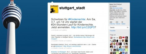 Stuttgart twittert