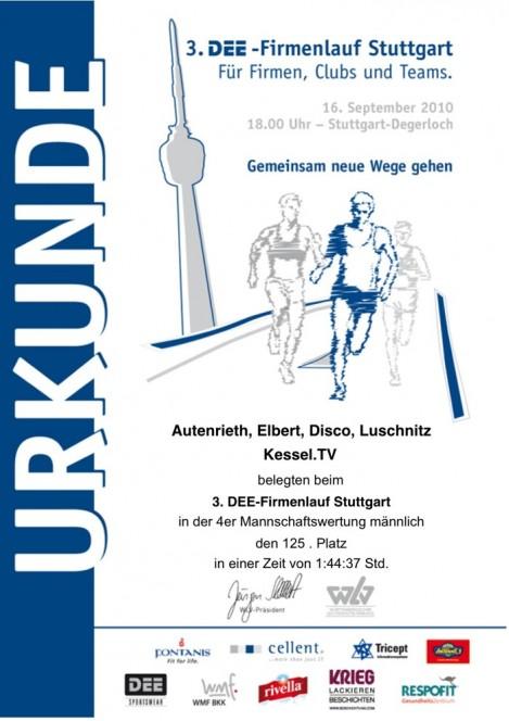 Stuttgarter Firmenlauf: Platz 125