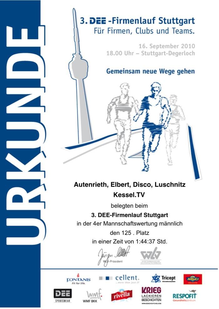 Stuttgarter Firmenlauf: Platz 125   KESSEL.TV
