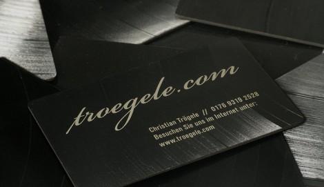 Visitenkarten aus Vinyl