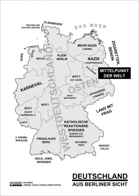 Deutschland Karte aus Berliner Sicht