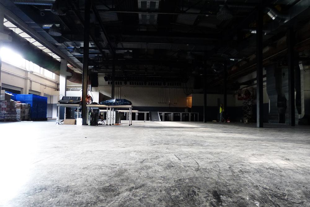 Halle 1, Platz für bis zu 1.300 Besucher.
