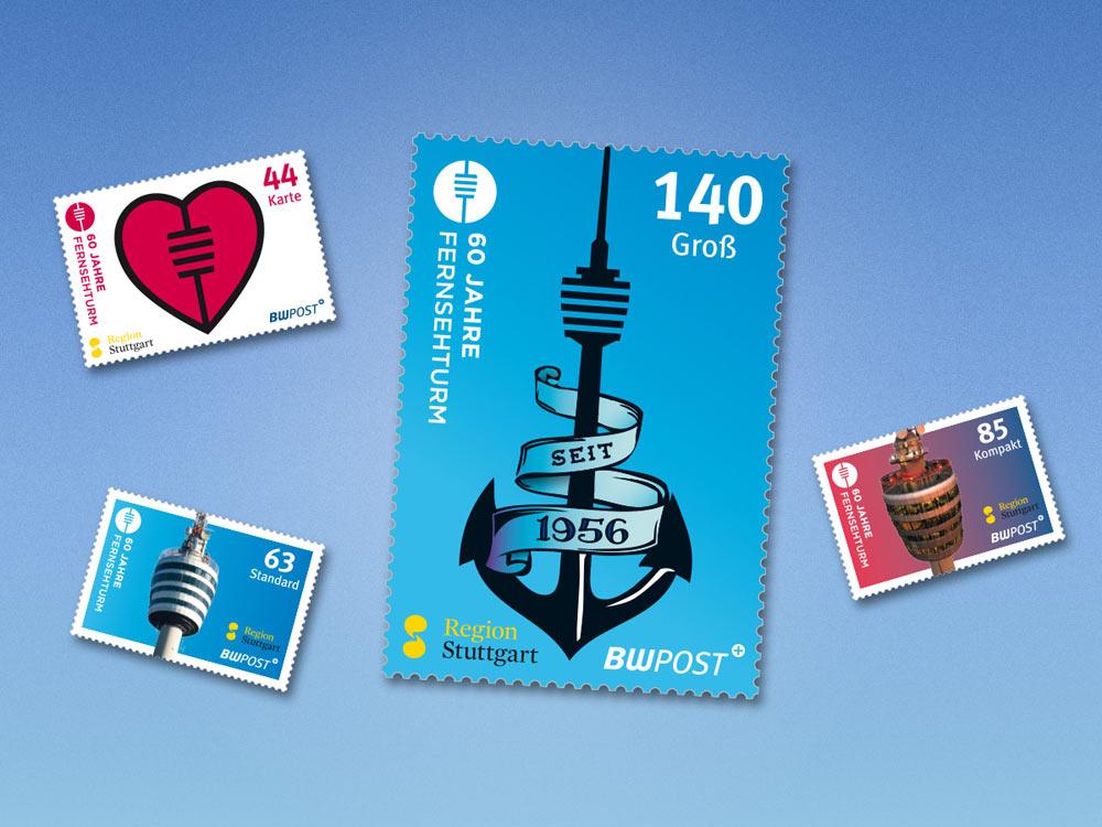 Ab sofort bei der BW-Post erhältlich: Fernsehturm-Sondermarken