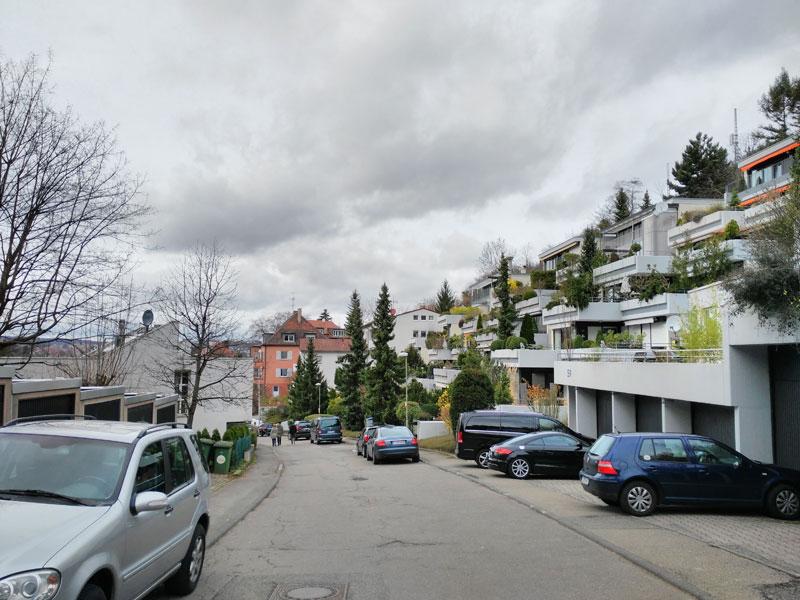 Altenbergstraße ganz oben. Ganz neuer Blick. Noch nie dort gewesen.