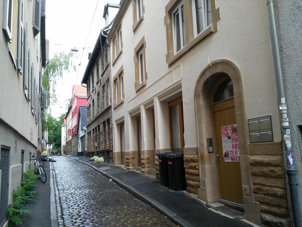 In der Weberstraße war heute übrigens Gelber Sack (Running Gag auf Twitter: