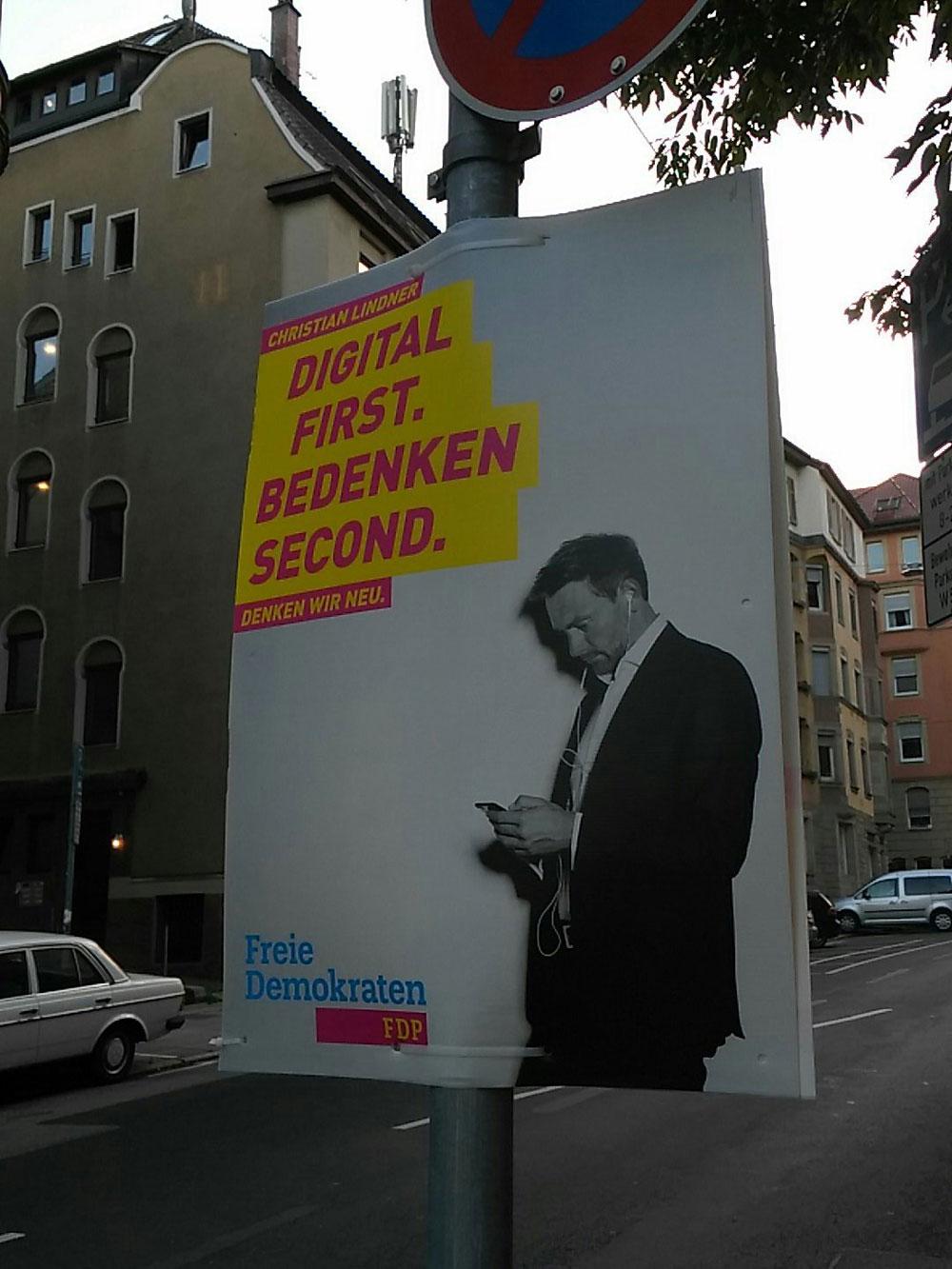 Wahlplakate 2017: Die FDP gewinnt. Zumindest aus graphischer Sicht.