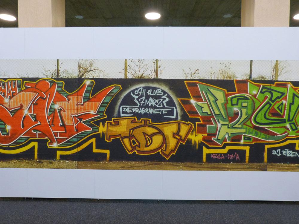 7. März. Fällt mir nur geil ein (aus Gründen). Graffiti vom Pragsattel, heute Theaterhaus.
