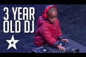 Dreijähriger DJ schraubt hart