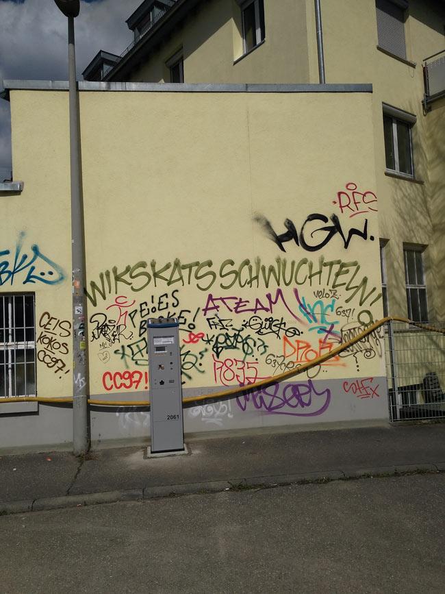Wikskats sind nicht zu verwechseln mit Whiskas. Graffiti-Crews-Beef?