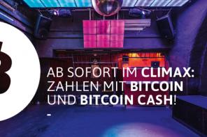 Climax: Zahlen mit Bitcoin und Bitcoin Cash