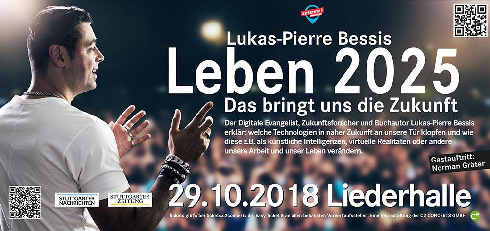 """Lukas-Pierre Bessis: """"Leben 2025 – das bringt uns die Zukunft"""" in der Liederhalle"""