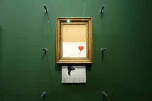 "Jetzt in der Staatsgalerie: ""Love is in the Bin"" von Banksy"
