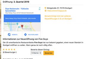 Five Guys in der Königstraße?