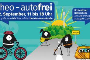 Diesen Sonntag: Autofreier Sonntag auf der Theo – VVS free