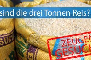 West: Drei Tonnen Reis geklaut