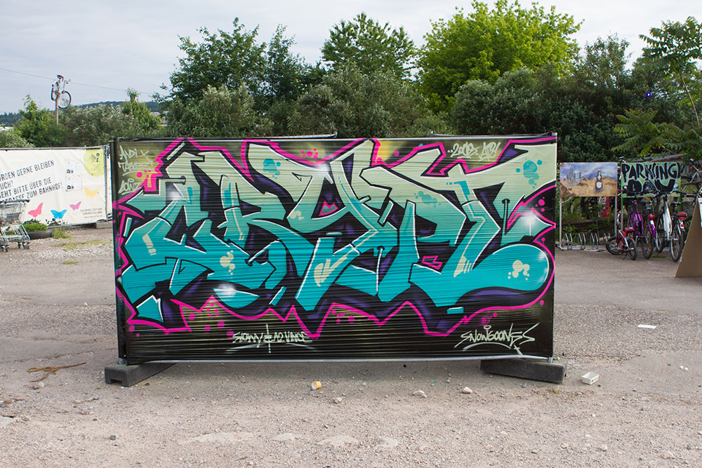 Crypt ist seit über 20 Jahren auch als Graffiti Artist aktiv.