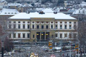 StadtPalais eröffnet Stuttgart im Schnee