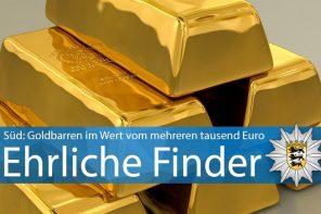 Goldbarren gefunden