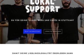 Lokal Support und Stuttgart sind wir