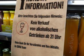 Sperrstunde in Stuttgart noch unklar & kein Alkoholverkauf nach 21 Uhr