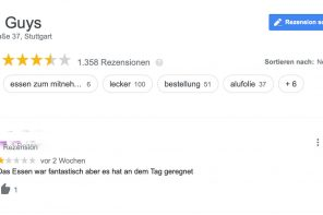 Five Guys Stuttgart Google Bewertungen
