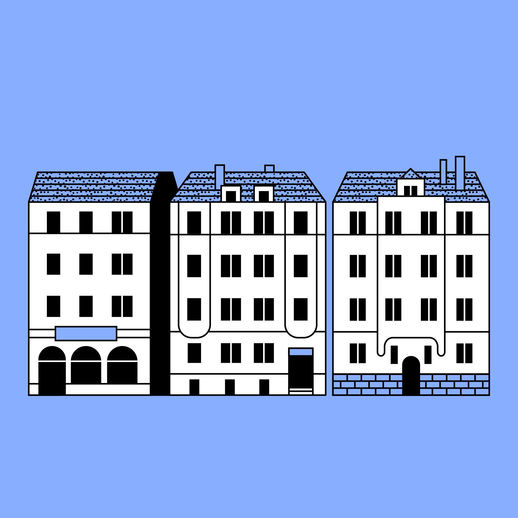 Titel: Art nouveau buildings, Stuttgart-West