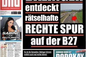 Balinger entdeckt rätselhafte rechte Spur auf der B27
